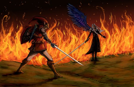 Link Vs Sephiroth Final Fantasy Video Games Background