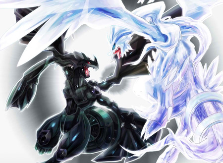 pokemon legendary battle - pokemon, legendary, cool, battle, unova, strong, awesome, reshiram, zekrom