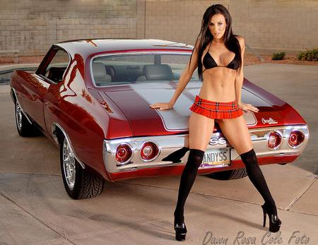 Candy SS - red, gm, babe, chevelle, sexy