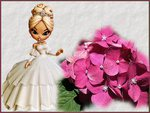 Easter Doll with flowers