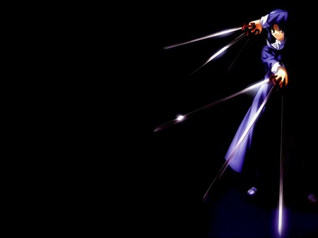 Assassin from Church - tsukihime, game, black, immortal, black key, girl, darkness, anime, ciel