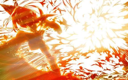 EXPLOSION !! - anime, gurren lagann, red, roshiu, explode, mecha, tengen toppa gurren lagann, drill, simon, kamina