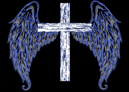 Angel Wings With Cross - Fantasy
