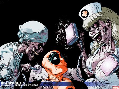 Deadpool Loves Zombie Nurses