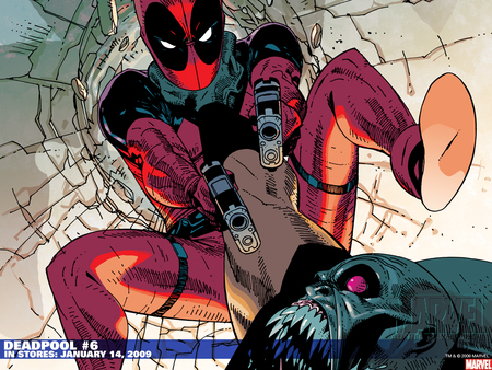 Deadpool vs Goblin - wade wilson, marvel, mercenary, deadpool