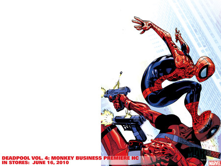 Deadpool & Spiderman - wade wilson, marvel, deadpool, spiderman, mercenary, peter parker