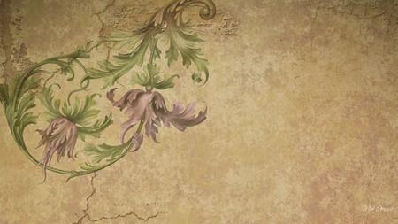 Old Paper - firefox persona, renaissance, parchment, vintage, antique, old, flower