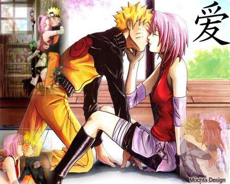 naruto kissing sakura naruto anime background wallpapers on