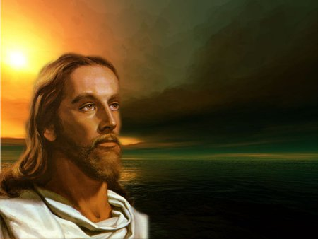 Christ sunset - sunset, god, religion, christ, jesus