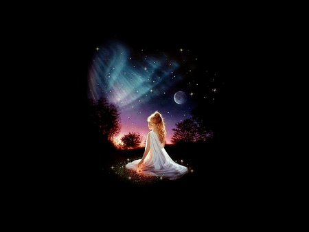 Praying - pray, black, girl, sky