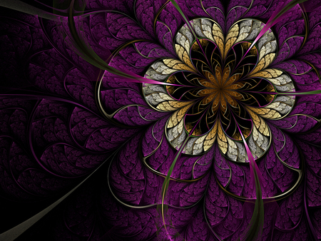 Abstract - harmony, colors, nice, abstract, flower, beautiful, cool, purple, violet