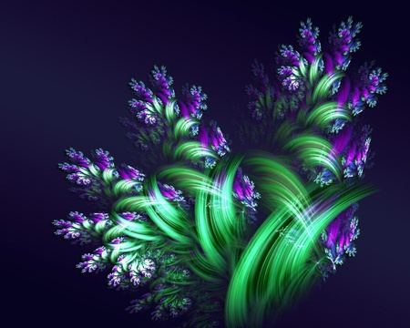 Beautiful Flower Sketch - 3d, green, color, funny, other