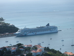 Cruise ship docked in St. Thomas