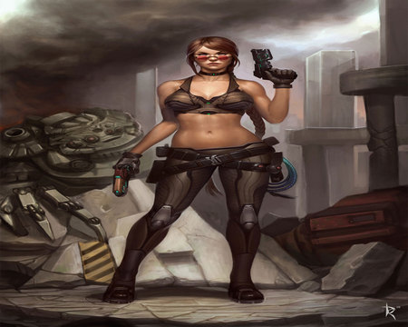 Imogene Commission - sexy, cool, war, guns, female, imogene commission