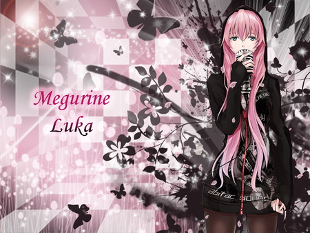 Checkered Room of Sound - luka, razing phoenix, miku hatsune, vocaloids, megurine luka, megurine, meg