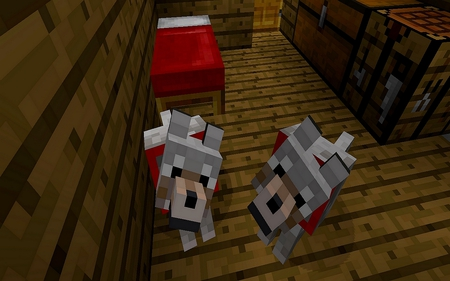 Minecraft Wolves - beautiful, minecraft, wolf, wolves, awesome