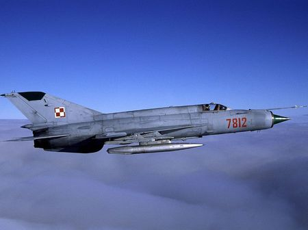 Mig-21 'Fishbed' - mig 21, polish air force, jet, jet fighter