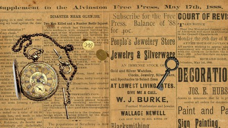 1888 Newspaper Collages Abstract Background Wallpapers On