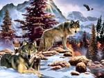 Native Wolfs and Cubs