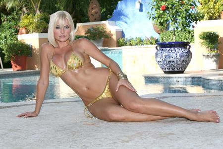 Marjorie De Sousa - sexy, hot, pool, marjorie de sousa