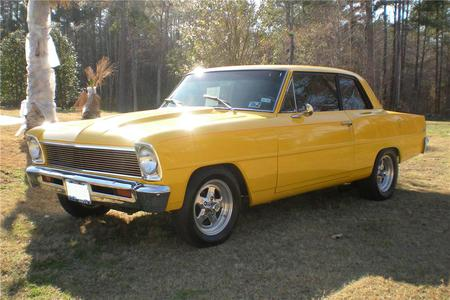 1966 Chevrolet Nova - car, chevy, yellow, custom, street, nova