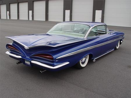 1959 Chevrolet Impala Custom Chevrolet Cars Background