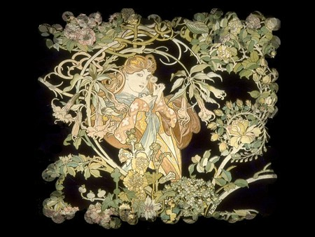 Art Nouveau Lady F5 - Other & Abstract Background Wallpapers on ...