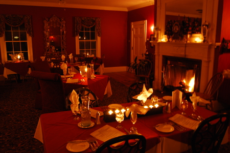 Romantic Dinner - dinner, romantic, romance, beautiful, candles, fireplace, romantic dinner, love, candle light, low light