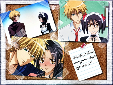 hidden love - kaichou wa maid-sama, girl, anime, wallpaper