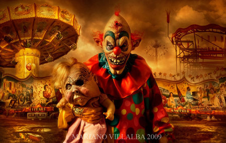 Carnival Of Horrors - carnival, clown, horrors, creepy