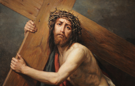 jesus carrying the cross other abstract background wallpapers on