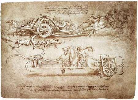 Sketch By Leonardo Da Vinci Other Abstract Background
