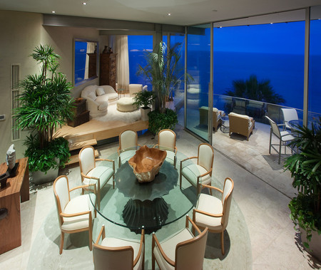 Ocean View - table, house, view, plants, couch, ocean, chairs, terrace