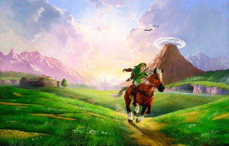 Hyrule Field - 3ds, 3d, ocarina of time, the legend of zelda