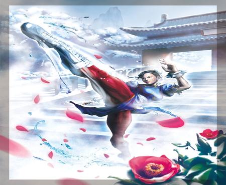 Chun Li Kick Power Street Fighter Video Games Background