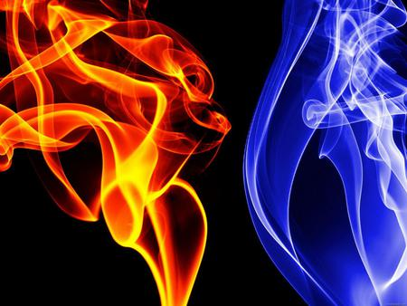 Red And Dark Blue Fire 3d And Cg Abstract Background
