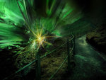 Illusive green portal