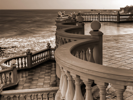 Observation Deck, Varna - photo, architecture, black, sea, photography, nature, white, deck, bulgaria