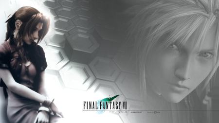 Aerith & Cloud - ff7, ffvii, cloud, final fantasy 7, brown hair, aerith, video games, blonde hair, advent children, final fantasy vii, cloud strife, anime, aerith gainsborough, final fantasy, long hair