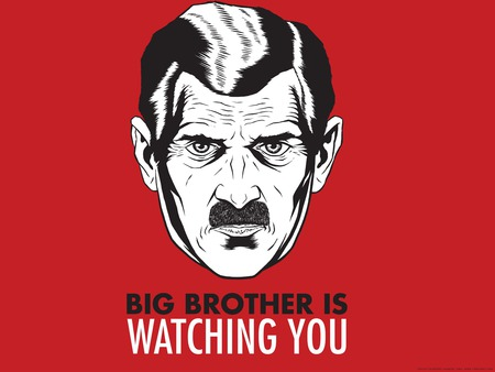 Big Brother Is Watching You - brother, big, orwell, 1984, watching, george