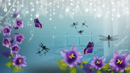Purple flowers abstract flowers nature background wallpapers on purple flowers abstract altavistaventures Choice Image