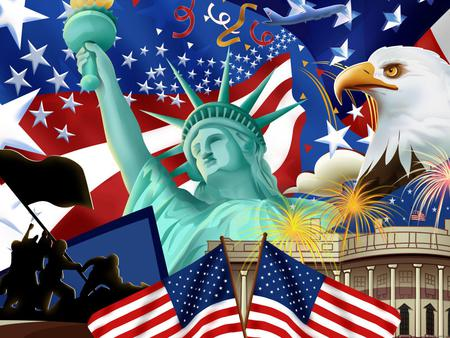 American Flag - liberty, usa, eagle, american, flag, picture