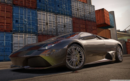 Lamborghini - sportscar, race, hd, nfs, racing, video game, lamborghini, track, speed, car, need for speed, shift, fast