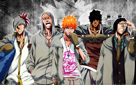 Bring it on.. - bleach, bring it on, chado, renji, cool, ishida, ichigo, ikkaku