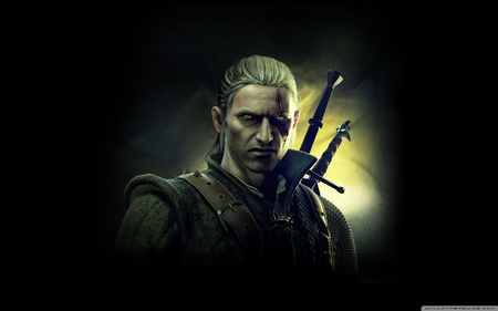 Geralt of Rivia - hd, fighting, action, cg, the witcher, video game, assassins, adventure