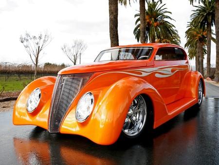 Orange street rod