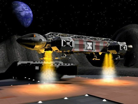 Spaceship while taking off - tv series, science fiction, take off, spaceship