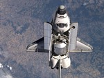 Space shuttle Discovery in space