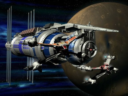 Mission in space - interceptor, station, planet, space