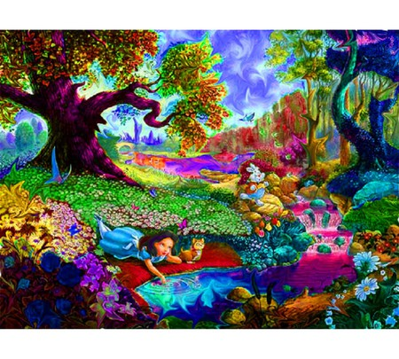 Psychedelic Alice In Wonderland